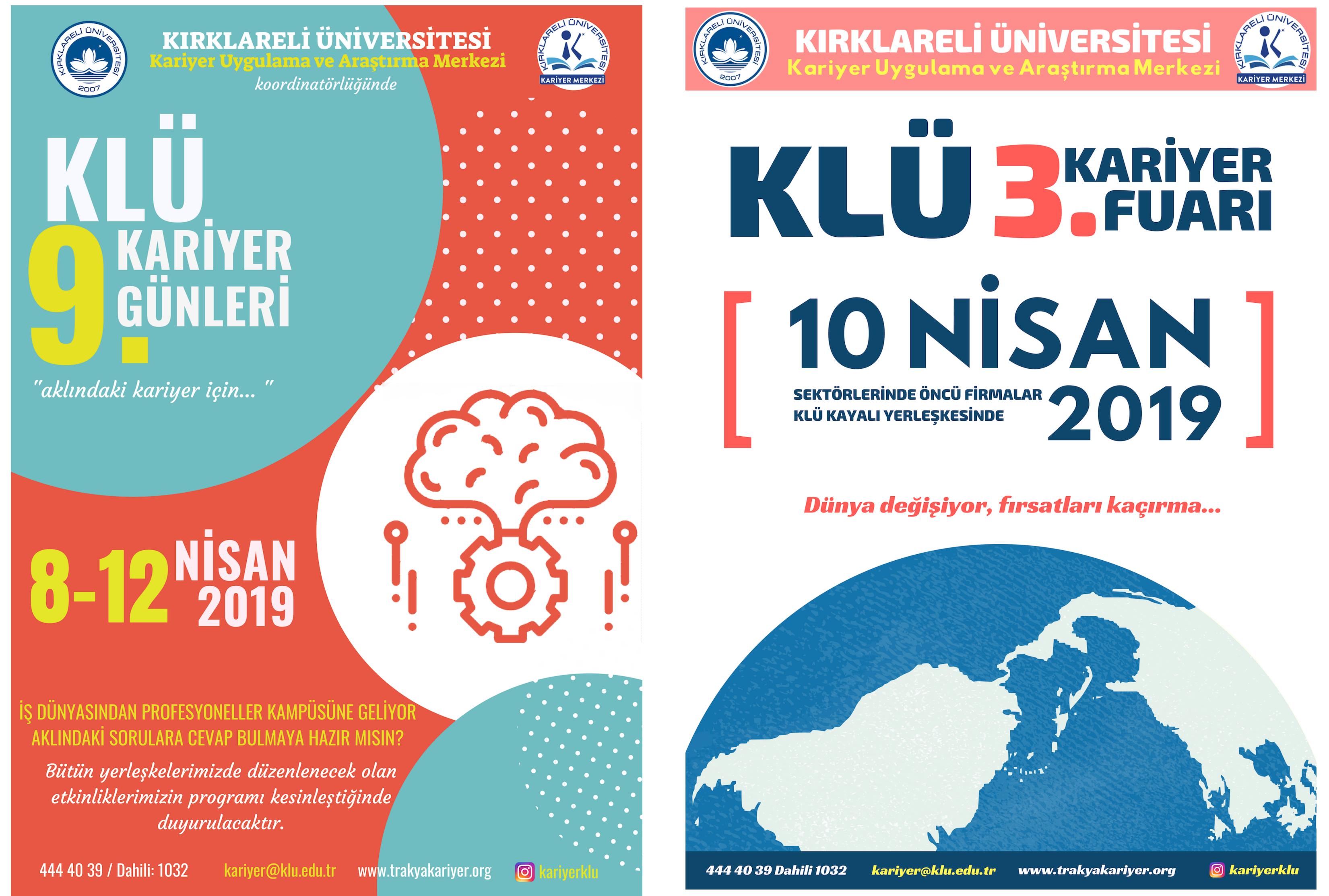 Kırklareli Üniversitesi'nde Kariyer Fuarı ve Kariyer Günleri Düzenlenecektir.